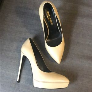 Saint Laurent Paris patent leather stilettos